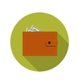 Flat design concept wallet with long shadow vector