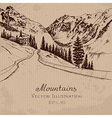 Mountain road vector