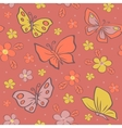 Seamless background with butterfly vector