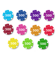 Eleven poker chips vector