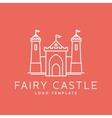 Abstract fairy tale castle line style logo vector
