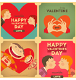 Valentines day posters set vector