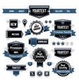Set of retro labels vector