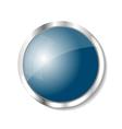 Metallic button vector