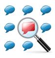 Special opinion - social media concept vector