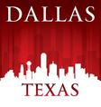 Dallas texas city skyline silhouette vector