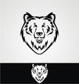 Bear face tribal vector