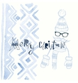 Christmas background on hipsters style vector