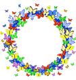 Butterfly border vector