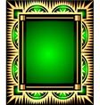 Retro green frame vector