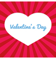 Heart shape space valentines day concept vector