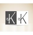 Retro alphabet letter k art deco vintage design vector