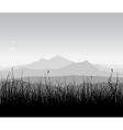 Landscape with grass and mount vector
