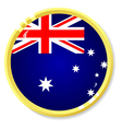 Button with flag australia vector