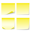 Yellow stick note set vector