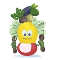 Cute salad monster characters creation vector