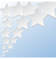 Abstract flying star background vector