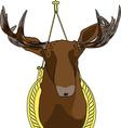Moose head vector