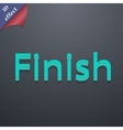 Finish icon symbol 3d style trendy modern design vector