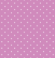 Pink background polka fabric with white little vector