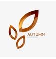 Autumn leaf logo minimal design vector