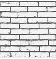 White seamless brick background vector