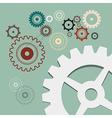 Cogs - gears retro vector