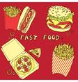 Vintage food hand drawn patterns vector
