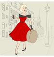 Woman in europe in 50s vector