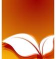 Orange leaves autumn wave design vector