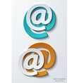 Modern email background vector