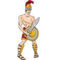 Greek god ares cartoon vector