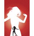 Dancing girl silhouette vector