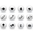 Web buttons grilling icons vector