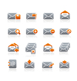 E-mail icons graphite series vector