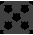 Shield web icon flat design seamless gray pattern vector