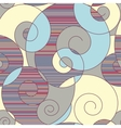 Colorful spirals seamless pattern vector