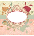 Vintage romantic background with roses eps 8 vector