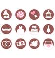Retro wedding design elements and icons vector