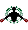 Boxer and laurel wreath vector