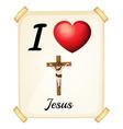 I love jesus vector