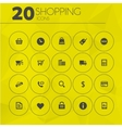 Simple thin shopping icons collection vector
