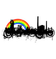 Industrial rainbow vector