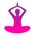 Woman yoga silhouette isolated on white vector