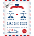 Gay wedding invitation vector