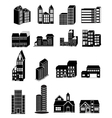 Building icons set vector