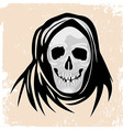 Scull death black monster halloween vector