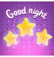 Star background good night vector