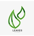 Green eco leaf logo vector