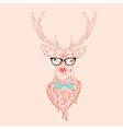 Hipster stag 2 vector